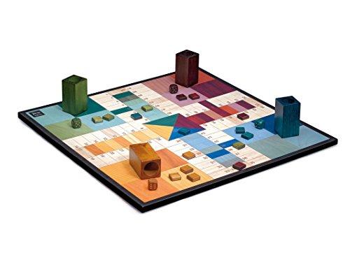 Cayro - Parchis Design - Parchis de madera - juego de mesa - Desarrollo de habilidades...