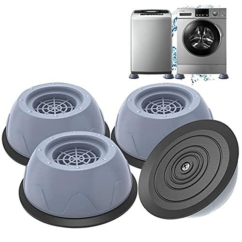 Piedini per Lavatrice, 4 pezzi Tappetino Antivibrazione per Lavatrice, Piedini Antivibrazione Lavatrice,tappetino per piedi lavatrice, tappetino antivibrazione universale (B)