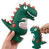 LEcylankEr Hucha Originales de Dinosaurio,Huchas de Juguete T-Rex Verde de Dibujos Animados,Decoración de Habitación,Regalo para Niños o Niñas