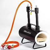 Forja de gas propano - DFSW2 | con 2 quemadores DFP (80,000 BTU) | para herreros y fabricantes de cuchillos para el trabajo de forja | quemadores con válvulas de bola de gas (Utilice 1 o 2)