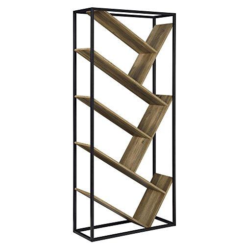 [en.casa] Scaffale libreria - Piani MDFcon Effetto legni - 180cm x 80cm x 30cm