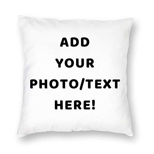 Foto-Kissen Selbst Gestalten, Personalisiertes Kissen mit Eigenem Foto Oder Text aus zum Selbst Gestalten Geeignet als Kopfkissen, Zierkissen, Dekokissen oder Geschenk-Idee