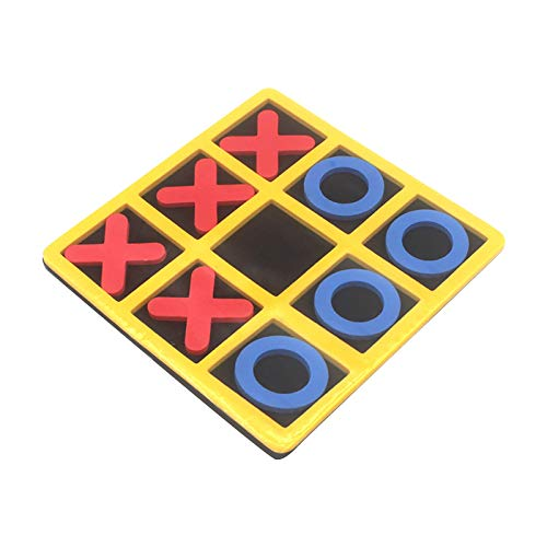 Reisespiel Noughts and Crosses, Kinder Kinder Brettspiele Indoor Spielen Tic-tac-Toe Noughts Crosses 4 Rot 0+4 Blau X+Schwarz Schachbrett