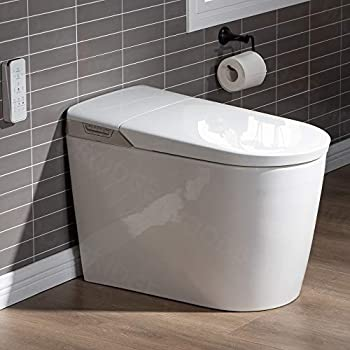 WOODBRIDGE B0980S Intelligent Smart Toilet Massage Washing Open & Close Auto Flush,Heated Integrated Multi Function Remote Control with Advance Bidet and Soft Closing Seat White