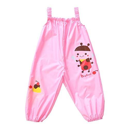 LIUONEXI Unisex Baby Jungen Mädchen Regenhose Wassdichte Süß Regenlatzhose Matschhose Buddelhose in verschiedenen Farben und Größen