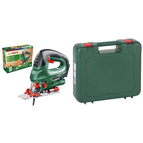 Bosch Akku Stichsäge PST 18 LI (ohne Akku, 18 Volt System, im Karton) & Kunststoffkoffer, 2605438729