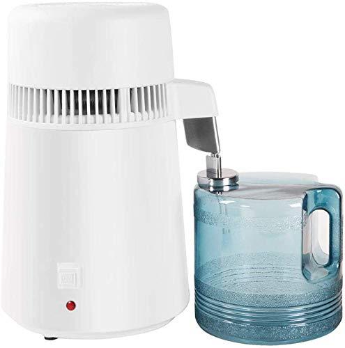 ZOKOP ZB-1 4L 220V 750W Aufsatz- Hauptwasser-Distiller-Maschine Fully Upgraded Edelstahl Destilliertes Wasser Purifier Filter Weiß UK-Stecker,A
