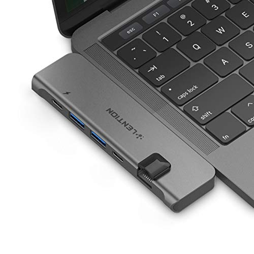 LENTION USB C Portable Hub with 40Gbps Thunderbolt 3, 100W Power Delivery, 4K HDMI, 2 USB 3.0, Type C, Gigabit Ethernet Adapter Compatible 2019-2016 MacBook Pro 13/15/16, New Mac Air (Space Gray)