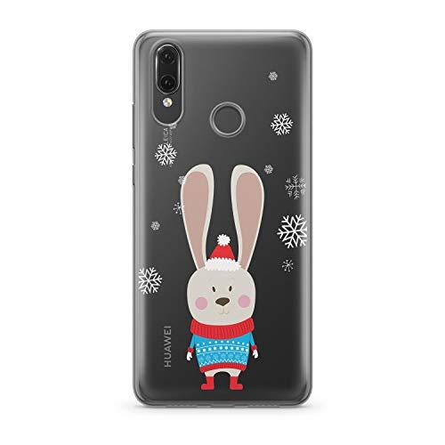 Finoo Handyhülle kompatibel für Huawei P20 Lite - Hülle mit Motiv und Optimalen Schutz TPU Silikon Tasche Case Cover Schutzhülle - Weihnachtshase