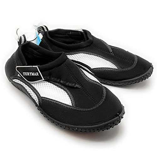 Chanclas, calzado de neopreno, zapatos de agua, zapatillas anti deslizamiento para deportes acuáticos, mar, playa y piscina, secado rápido, Unisex Adultos (Negro, Talla 38)