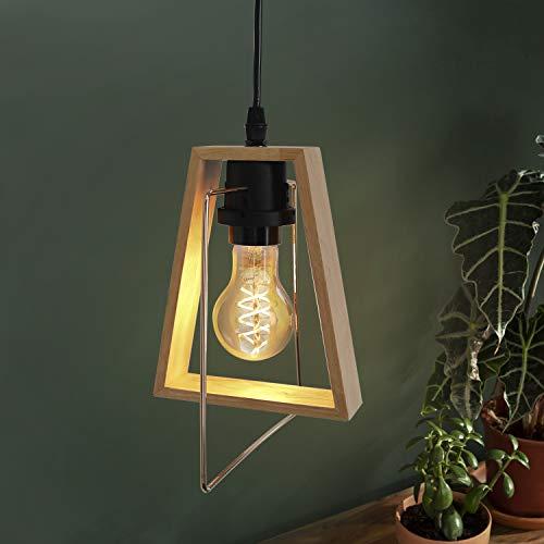 GBLY lampada a sospensione tavolo da pranzo in legno lampada a sospensione regolabile in altezza E27 lampada da pranzo moderna decorativa per soggiorno camera da letto cucina (lampada non inclusa)