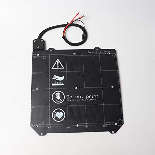 MQEIANG For Prusa i3 MK3/MK3S 3d printer MK52 heated bed 24V assembled, N35UH magnets, power cable, thermistor, textile sleeve (Size : With TXT PEI)