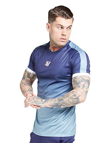 Sik Silk - SS 15809 - Raglan Fade Straight - Camiseta DEGRADADA - Manga Corta - Hombre (XS)