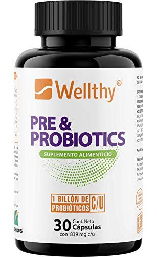 PRE & PROBIOTIC Prebiótico y Probiótico ideal para Balancear, Mejorar, Nutrir el Sistema Inmune y Estomacal 30 cápsulas Tecnología Duocap (cápsula dentro de una cápsula)
