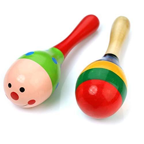 TOYANDONA 2 Piezas Niños Plástico Maracas Sonajero Agitadores Musicales Juguetes Educativos Arena Martillo Percusión Sonajero Agitador Juguetes