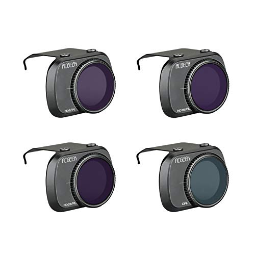 DJFEI Filtro Obiettivo Fotocamera per DJI Mavic Mini 2 Drone, ND8-PL + ND16-PL + ND32-PL + CPL Angoli Regolabili in Lega Filtro Obiettivo della Fotocamera per DJI Mavic Mini 2 Drone