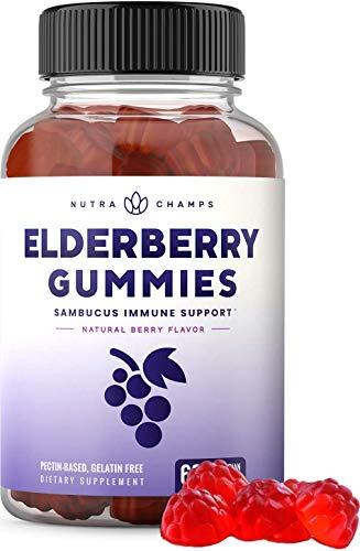 Elderberry Gummies with Vitamin C, Propolis & Echinacea - Immune System Support Gummy Vitamins for Adults & Kids - Max Strength 200mg Sambucus Antioxidant