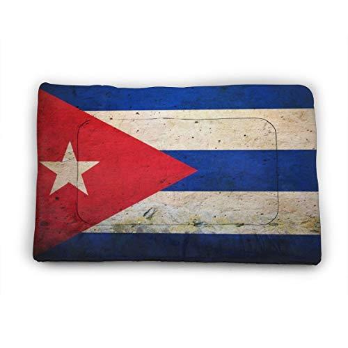 Medium Dog Bed Mat Wasbaar Krattenmatras 35 Inch Niet Slip Huisdier Kussen Pad Vintage Cubaanse Vlag, 40