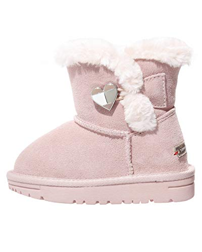 Tommy Hilfiger Kinder Boots Winter Schuhe für Mädchen, Farbe:Pink, Größe:EUR 28