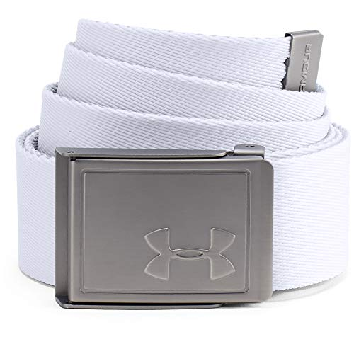 Under Armour Men's Webbing 2.0 Belt Cinturón, Hombre, Blanco (100), Talla Única