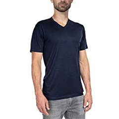 [ ULTRALIGHT V NECK TEE SHIRT ] Flatlock seams, tagless interior, low bulk athletic fit for layering versatility. Full merino construction for natural stretch, odor resistance, moisture wicking, itch free, 4-season comfort. [ MODERN FIT FOR DAILY WEA...