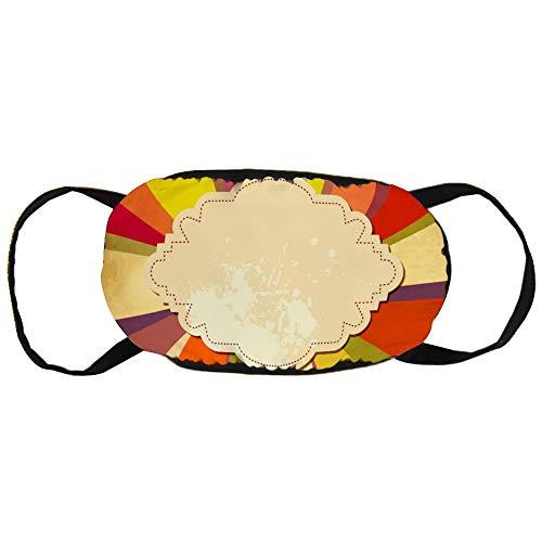 Stofvervuilingsmasker, Retro achtergrond met papieren frame voor tekst, zwart oor puur katoen masker, Geschikt voor mannen en vrouwen maskers