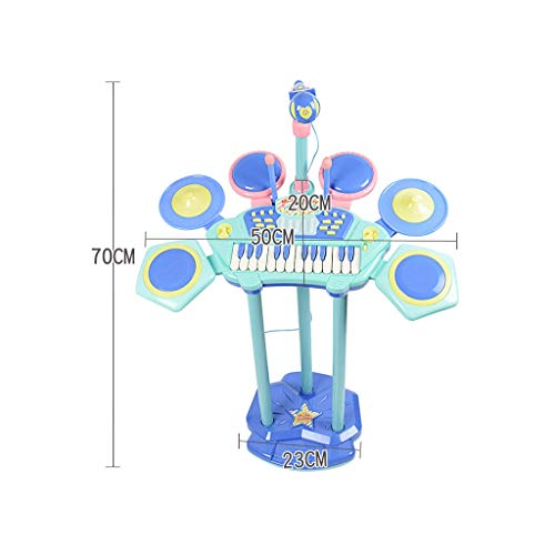 X-CAT子供用ドラム電子ピアノ初心者入門男の子と女の子3-6歳の音楽的なおもちゃ(色:青)