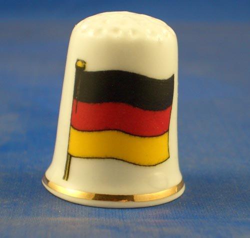 Porzellan Sammlerstück Flagge Deutschland
