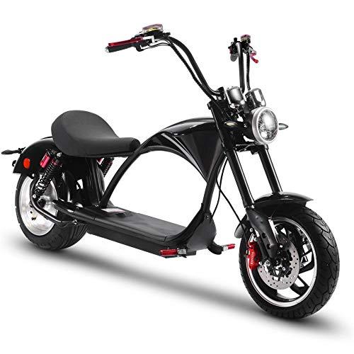 MotoTec Lowboy 60v 20ah 2500w Lithium Scooter Black