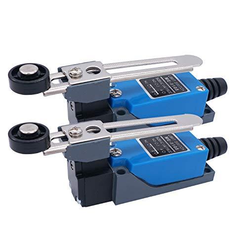 2Pcs ME-8108 Adjustable Roller Lever Arm arduino Limit Switch NC-NO CNC Mill Router