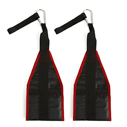 Fitness AB Sling Straps Suspension Rip-Resistente a resistencia resistente a los trabajos pesados Un par para la barra de tire de la barra colgante Raiser Gym Gym Fitness Equipment ( Color : Red )