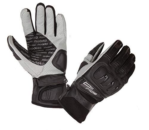 Modeka Air Ride Handschuhe Schwarz/Weiß 12