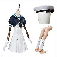 【Qumaolindedianpu】艦隊これくしょん -艦これ- 駆逐艦 Jervis コスプレ衣装+帽子+靴下