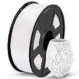 SUNLU PLA 3D Printer Filament, PLA Filament 1.75 mm Dimensional Accuracy +/- 0.02 mm, 1 KG Spool, PLA White