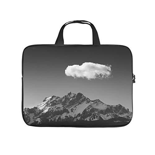 Funda para portátil con diseño de paisaje nevado, cielo, nube, a prueba de polvo, neopreno, funda a medida para estudiantes