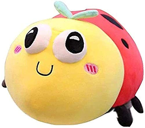 Linda Ladybug Almohada de Peluche Muñeca de Peluche Sofá Super Suave Decorativo Pillow Juguete 40 cm P
