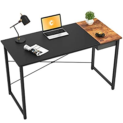 Cubiker Computer Desk Home Office Writing Study Laptop Table, Modern Simple Style Desk with Drawer