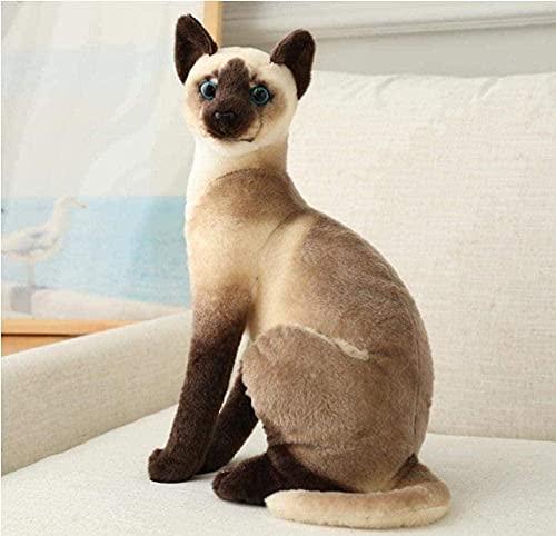 NC99 Juguetes suaves gato felpa juguetes suave animal siamés gato muñecas para niños bebé decoración del hogar regalos de cumpleaños 20cm