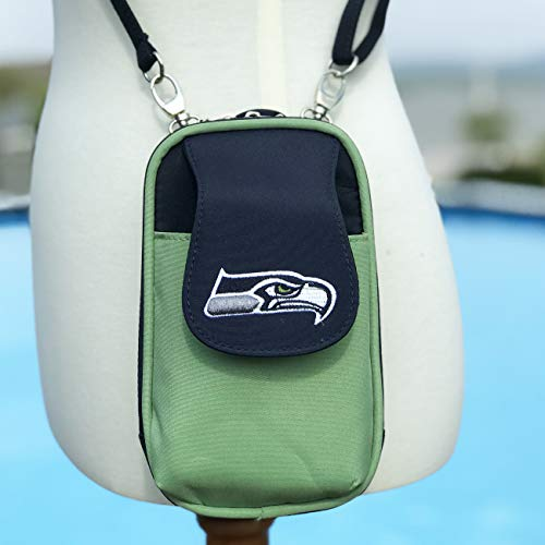 Charm14 NFL Seattle Seahawks Women's Crossbody Cell Phone Purse XL -Fits All Phones by Little Earth