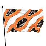 Like-like Banderas de Patio de Vacaciones de Papaya Preciosas y Elegantes Bandera de jardín Decorativa 3x5 pies Colores Vibrantes Calidad Poliéster