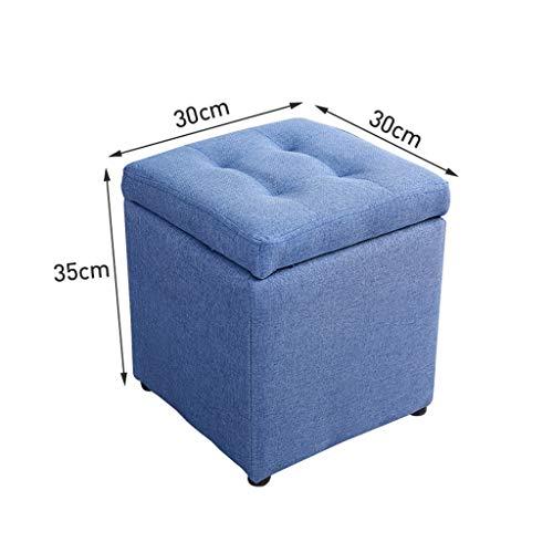 CHQYY Sillas- Pecho de almacenamiento otomana reposapiés del asiento portátil de picnic versátil que ahorra espacio de carga de 200 kg CubesMax (Color : Blue)