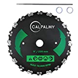"""CalPalmy 9"""" x 20T Chainsaw Tooth Brush Blade Kit– 1 Blades, 1 3/16'' Round Files and 2 Washers 