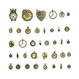 Healifty 38 piezas de bronce antiguo reloj steampunk reloj engranaje rueda dentada...