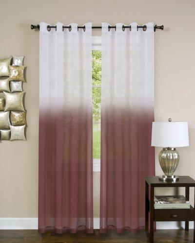Achim Home Furnishings Essense Grommet Window Curtain Panel, Burgundy, 52 x...