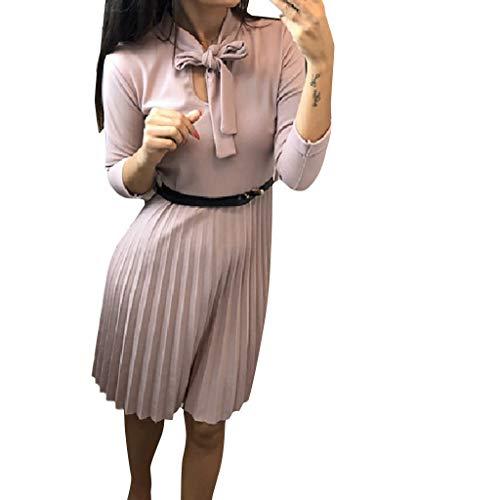 Vestido Mujer Cortos Elegantes Manga Larga Invierno,PAOLIAN