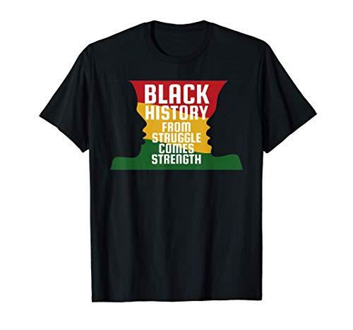 Historia negra Silueta negra Silueta africana Camiseta