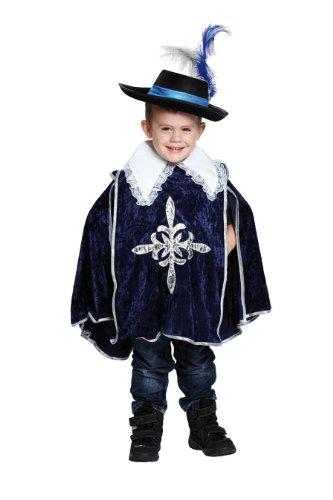 Generique - Mittelalterliches-Musketier Kinderkostüm Ritter blau-Weiss-Silber
