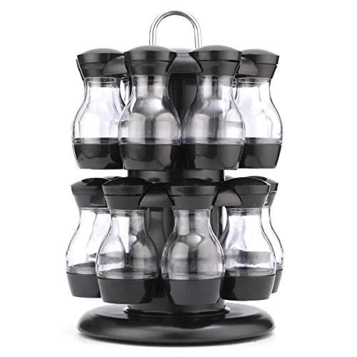 Cocina for guardar condimentos soporte 16 Tarro giratoria estante de especia del carrusel