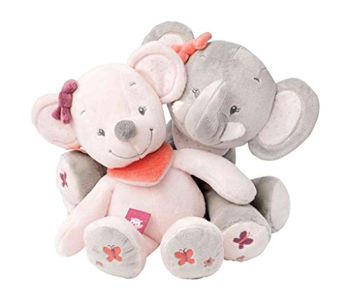 Nattou Spieluhr, Mädchen, 28 cm, rosa – Adèle der Elefant - 2