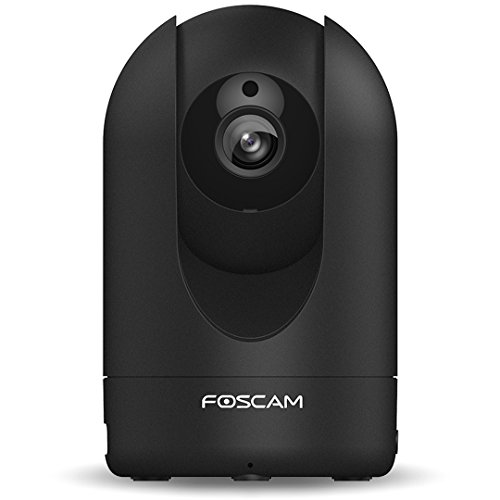Foscam R2 draaibare en zwenkbare Full HD IP WLAN camera/bewakingscamera met 2 MP (resolutie van 1920 x 1080 pixels), P2P, IR-nachtzicht, microSD-kaartsleuf, bewegingsdetectie - zwart
